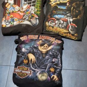 3D Emblem harley davidson t-shirts